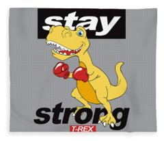 Stay Strong - Baby Room Nursery Art Poster Print Fleece Blanket