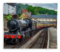 Steam Locomotive Wales Fleece Blanket
