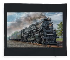 Steam Train  Fleece Blanket