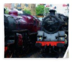 Steam Trains Fleece Blanket