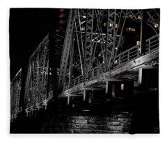 Steel Of Blue Bridge Grand Rapids Fleece Blanket