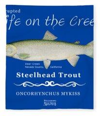 Steelhead Trout Fleece Blanket