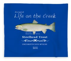 Steelhead Trout Fleece Blanket