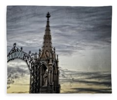 Steeple And Steel Fleece Blanket