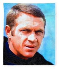 Steve Mcqueen, Portrait Fleece Blanket