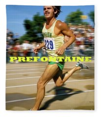 Steve Prefontaine, The Legend, Oregon Ducks Fleece Blanket