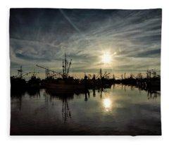 Steveston Silhouette Fleece Blanket