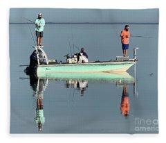 Still Fishing Fleece Blanket