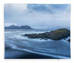 Still Rocks In The Storm Fleece Blanket