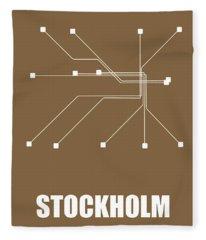 Stockholm Subway Map 2 Fleece Blanket