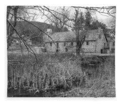 Stone And Reeds - Waterloo Village Fleece Blanket