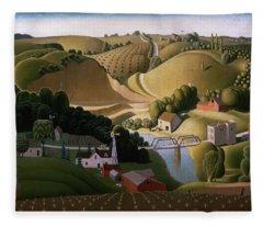 Stone City, 1930 Fleece Blanket