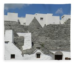 Stone Coned Rooves Of Trulli Houses Fleece Blanket