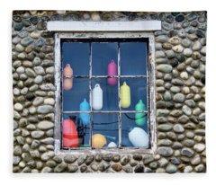 A Window Into History In Yarmouth, Nova Scotia Fleece Blanket