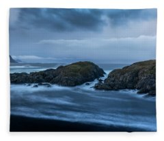 Storm At The Sea Fleece Blanket