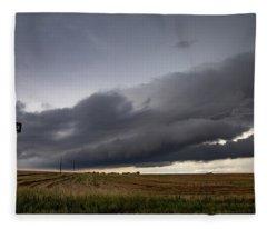 Storm Chasin In Nader Alley 004 Fleece Blanket
