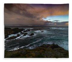 Storm Coastline Fleece Blanket