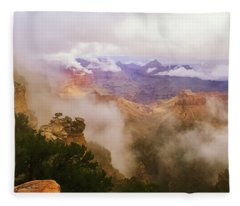 Storm In The Canyon Fleece Blanket