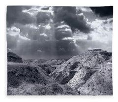 Storm Over The Badlands Fleece Blanket