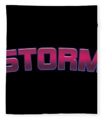 Storm #storm Fleece Blanket