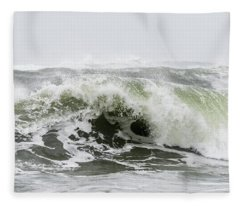 Storm Surf Spray Fleece Blanket