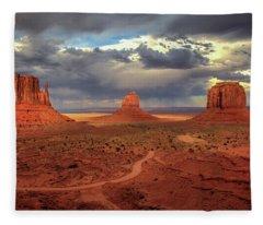 Stormy Background Fleece Blanket