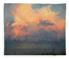 Stormy Beach Fleece Blanket