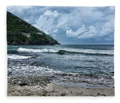 Stormy Shores Fleece Blanket