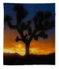 Stormy Sunrise Fleece Blanket