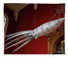 Strange Creatures At The Oceanographic Museum Of Monaco Jacques Cousteau Museum Fleece Blanket