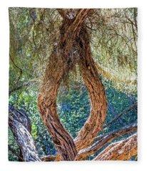 Strange Tree Fleece Blanket