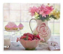Strawberry Breakfast Fleece Blanket