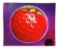 Strawberry Moon  Fleece Blanket