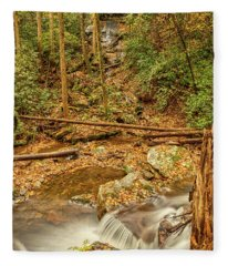 Stream Waterfalls Fleece Blanket