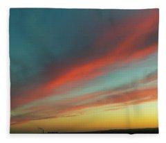 Streaming Sunset Fleece Blanket