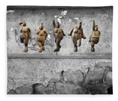 Fleece Blanket featuring the photograph Street Art Is Art - Dancing Venus Crones by Andrea Kollo
