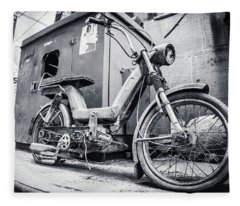 Street Bike Fleece Blanket