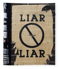 Street Poster - Liar Liar 2 Fleece Blanket