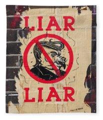 Street Poster - Liar Liar Fleece Blanket