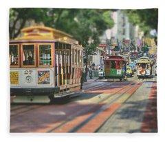 Streets Of San Francisco Fleece Blanket
