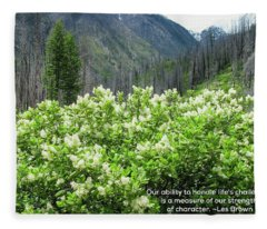 Strength And Character - Nature Art By Omaste Witkowski Fleece Blanket