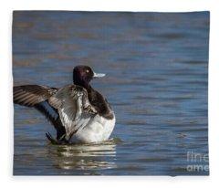 Stretching Scaup Fleece Blanket