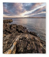Striations. Leading Lines In The Rocks Fleece Blanket