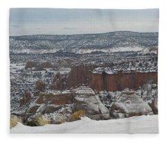 Striped Overview Fleece Blanket