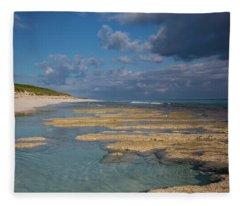 Stromatolites On Stocking Island Fleece Blanket