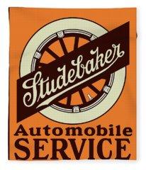Studebaker Auto Sign Fleece Blanket