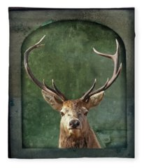 Fleece Blanket featuring the photograph Stuffed And Mounted by Andrea Kollo