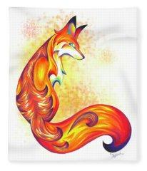 Stylized Fox I Fleece Blanket