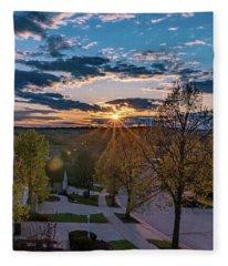 Suburban Sunset Fleece Blanket