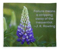 Success Via Failure - Motivational Flower Art By Omaste Witkowski Fleece Blanket